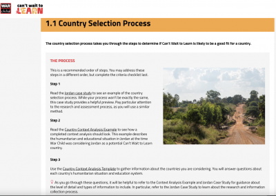 Can't Wait to Learn country selection intro